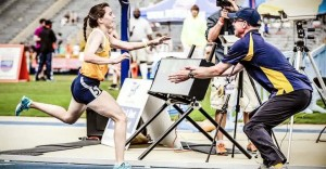 She Runs the Fastest. But Her Coach Always Has to Catch Her at the Finish Line.
