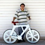 A $20 Bicycle Made From Recycled Cardboard Boxes.