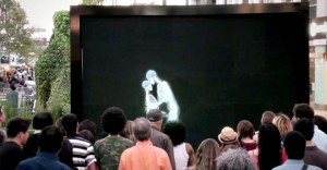 Skeletons Kiss, Hug and Dance Before a Crowd. Now Watch Who Steps Out From the Screen.