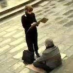 They Ignored This Blind Homeless Man's Sign Until a Stranger Changed It for Him.