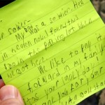 An 8-Year-Old Went to 'Cracker Barrel' and Saw a Soldier Eating Alone. So He Wrote Him a Note.