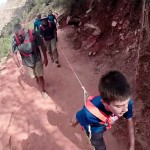 This 10-Year-Old Boy Is Hiking Up the Grand Canyon. Look What's Tied Around His Waist… Unbelievable!
