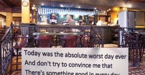 A Poem Anonymously Posted In a London Bar Is Going Crazy Viral Because of Its Awesome Twist Ending.