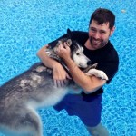 His Husky's Legs Stopped Working. But When He Takes Him Swimming, I Break Down In Tears.