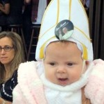 Pope Francis Cracked Up as He Blessed a Baby Dressed In a Pope Outfit.