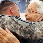 For 12 Years, a Grandma Hugged Soldiers at the Airport. When She Isn't There One Day, They Do This.