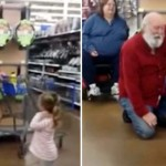 A Little Girl Mistakes a Complete Stranger for Santa… And He Rolls With It.