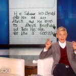 Even Ellen Can't Keep It Together When She Reads What These Kids Wrote. This Is So Hilarious.