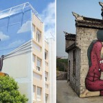 A French Street Artist Is Turning Abandoned Buildings Around the World Into Stunning Works of Art.
