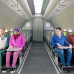 This Looks Like 4 Guys In an Plane. And It Is. But When They Take Off the Seat Belts… Pure Genius!