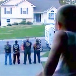 4 Bikers Stand Guard Outside a Child's Window. Now Watch When They Turn Around.