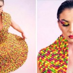 A Homeless Mom Designs a Dress Out of… Skittles.