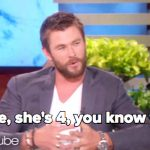 When Chris Hemsworth's Daughter Tells Him She Wants a Penis, He Says Exactly What Needs to Be Said.