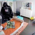 A Dad Dressed As Darth Vader to Wake Up His Son. The Kid's Reaction Is Pure 'Star Wars'.