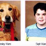 Best Friends Forever: A Boy and His Service Dog Pose In the Yearbook.