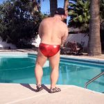 He Squeezes Into a Tiny Red Speedo. Once the Music Starts, It's Electrifying!