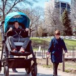 A Stroller Company Made a Grown-Up Version for Adults to Test Ride.