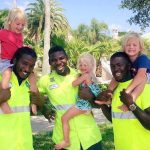 These 2-Year-Old Triplets and Their Garbage Collectors Are the Cutest Best Friends Ever.