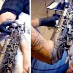 A Tattoo Artist Who Lost His Arm Gets the World's First Tattoo Machine Prosthesis.