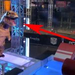 Someone Just Did 'American Ninja Warrior' In a T-Rex Suit. And It's the Greatest Thing Ever.