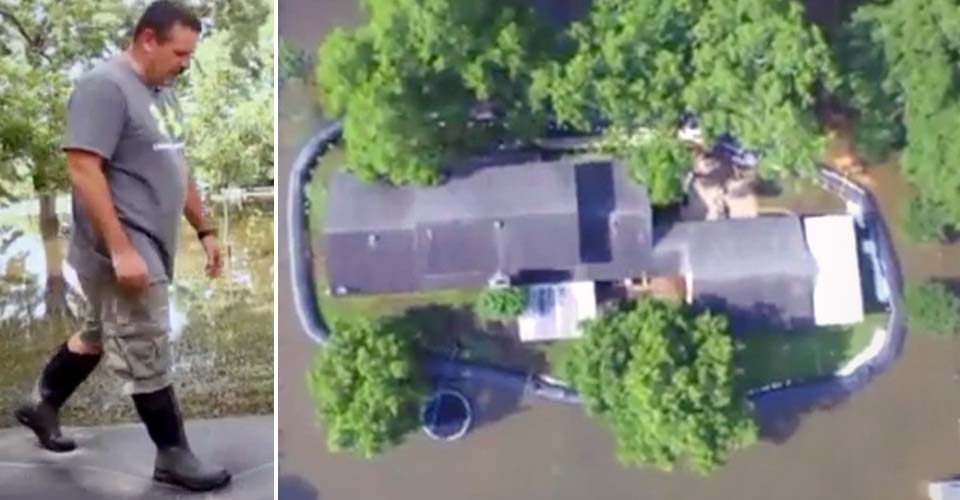 Neighbors Called Him Crazy for Spending $8,300 On 400-Feet of Plastic… Until the Dam Saved His Home.