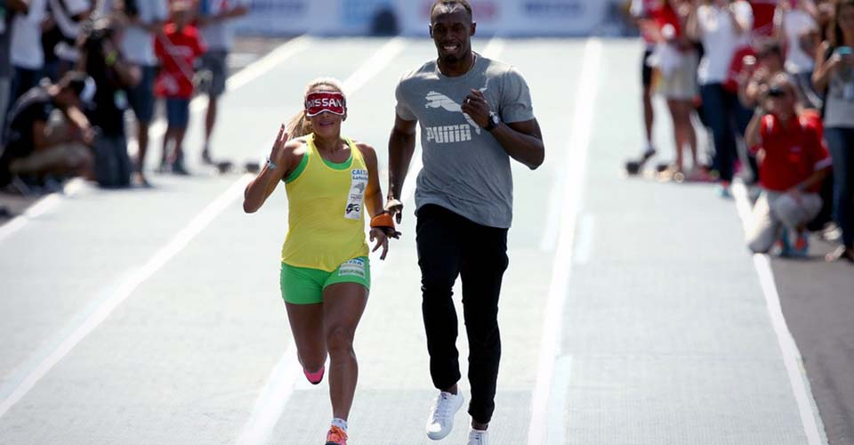 The Day 'The Fastest Man In the World' Ran as the Guide for a Blind Paralympic Champion.