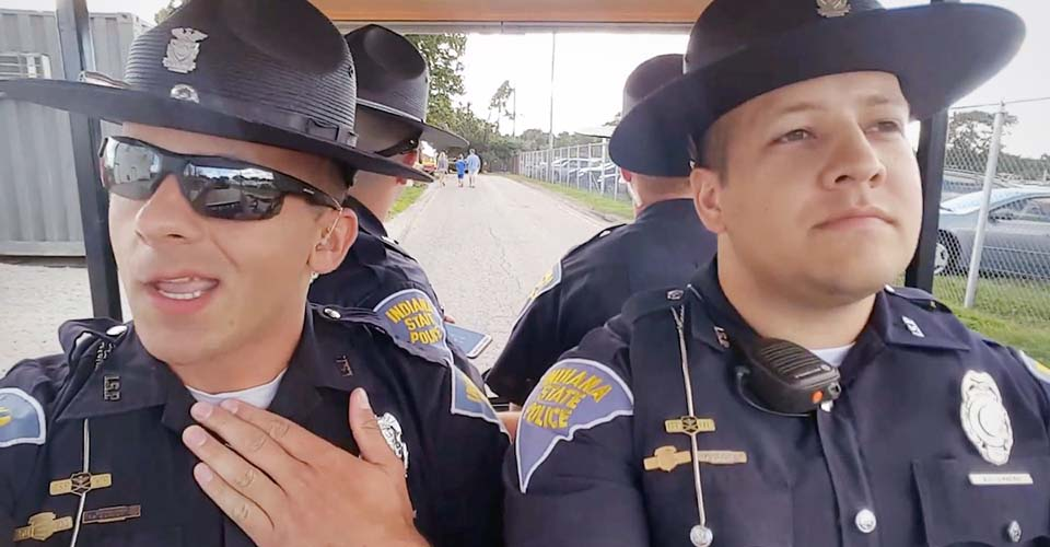 4 State Troopers Lip Sync to 'Grease' to Celebrate the Last Day of the State Fair.