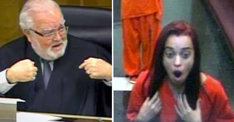 A Judge Flips Out When Rude Teenager Gives Him the Middle Finger In the Courtroom.