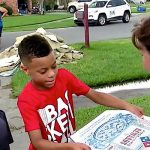 A 9-Year-Old Boy Celebrates His Birthday By Delivering Pizzas to Louisiana Flood Victims.
