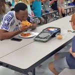 A Mom Fears Her Son Eats Alone Everyday. Then, a Famous Athlete Sits Right Next to Him.