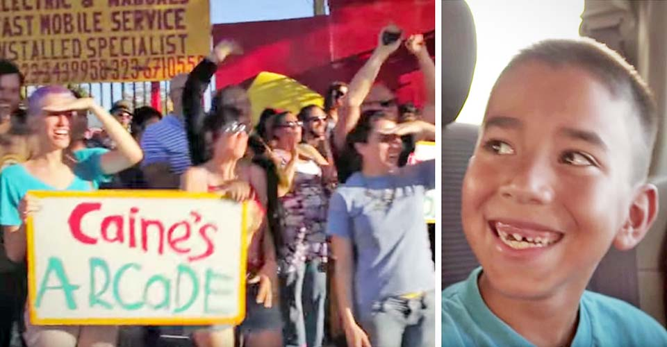 A Bullied Kid Has No Idea Hundreds Are About to Surprise Him at His Arcade.
