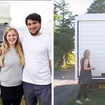 A Couple Lives Inside This Old White Van, Transforming It Into a One-Bedroom Apartment.