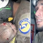 A Haunting Video Captures the Emotional Moment a Young Rescue Worker Saves a 30-Day-Old Baby.