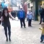 A Little Girl Sees an Irish Dancer On the Street, Then Adorably Joins In With Her Own Dance Moves.