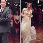 Father-Daughter Dance Is Sweet and Traditional, Until Dad Looks at the Camera and Stuns Them All.