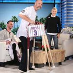 Chicago Cubs Kris Bryant and David Ross Celebrate With Ellen.