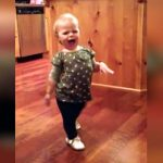 A Pregnant Mom Catches Her 15-Month-Old Daughter Making Fun of the Way She Walks.
