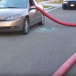 This Is What Happens When You Park Your Car In Front of a Fire Hydrant.