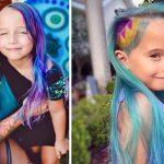 Strangers Insult Her for Dyeing Daughter's Hair Blue. Then, Mom Writes a Note On Instagram.