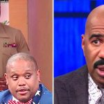 Steve Harvey Calls Staffer On Stage, But He Has No Idea Soldier Brother Is Right Behind Him.