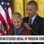 Ellen DeGeneres Gets Emotional During Presidential Medal of Freedom Ceremony.