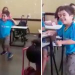 6-Year-Old Boy Leaves His Wheelchair and Takes First Steps In Front of His Classmates.