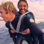 A paralyzed woman gets help from a family friend and some duct tape to become a surfer again.