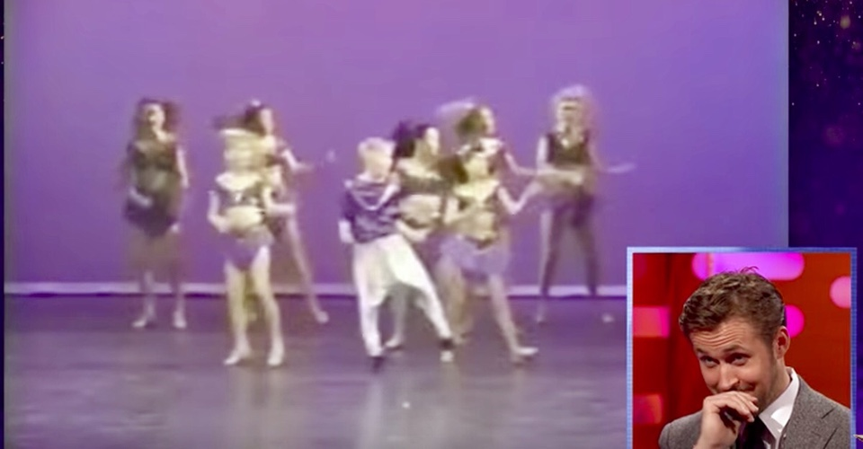 Ryan Gosling Is Forced to Watch His Childhood Dance Moves. And It's Adorably Embarrassing.