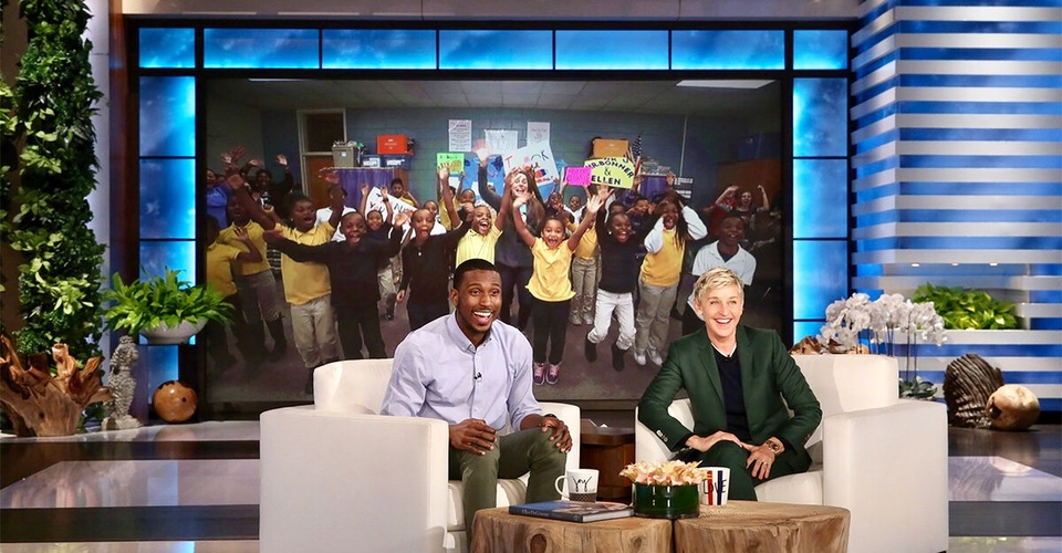 Try Not to Cry Watching This Inspiring Teacher Get Surprised On 'Ellen'.