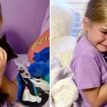 Girl bursts in tears when she meets kitten who looks like her best friend that passed away.