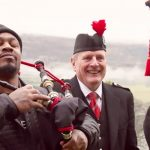 Marshawn Lynch goes to Houston to talk Super Bowl… Houston, Scotland.
