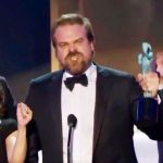 'Stranger Things' David Harbour turns SAG Awards speech into rousing call to arms.