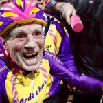 105-year-old cyclist rides 14 miles in an hour en route to a world record.
