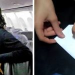 Girl flies with controlling older man, so stewardess secretly slips her a note to save her life.